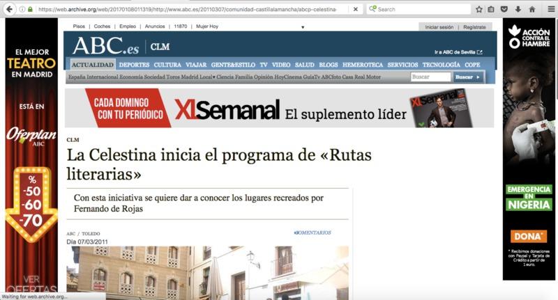 Rutas literarias, Gobierno de Castilla-La Mancha (2011)