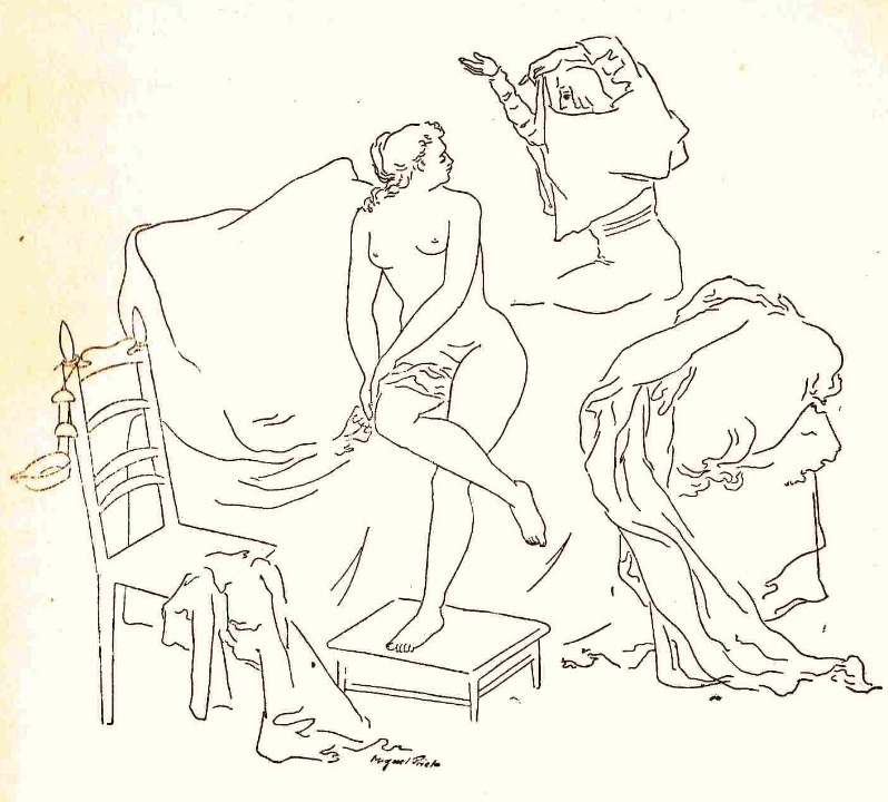 Ilustración primera del acto VIII de la edición de México (1947)