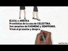 Video-resumen de YouTube de La Celestina con animación, de Gloria Gil (2012)