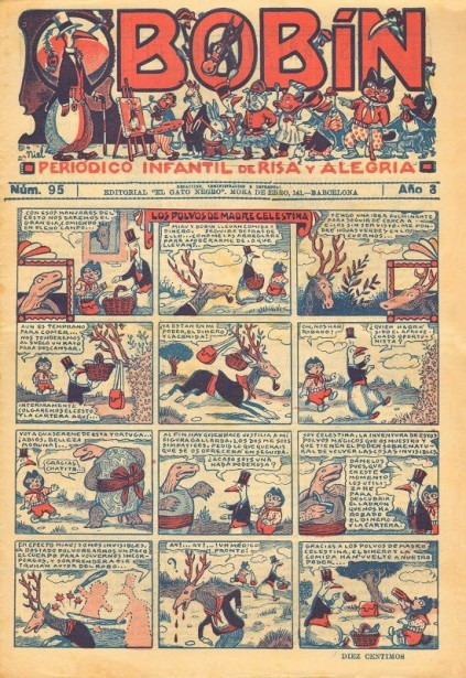 Historieta Los polvos de la madre Celestina, revista infantil Bobín (1932)