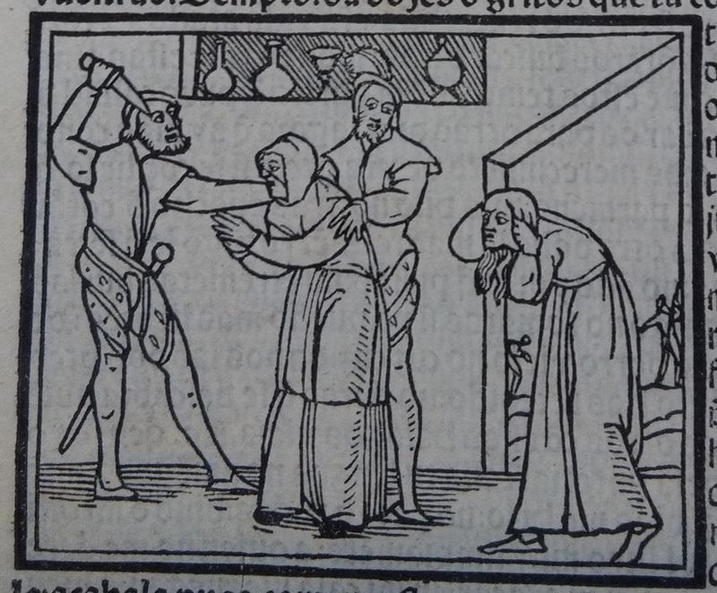 Ilustración segunda del acto 12 de la edición de Lisboa (1540)
