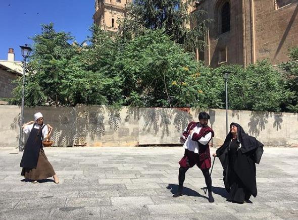 Representación del programa turístico-cultural Salamanca Plazas y Patios, Salamanca (2017)