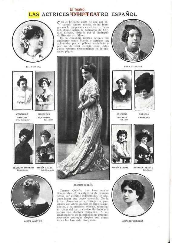 Representación de Madrid, 1909.