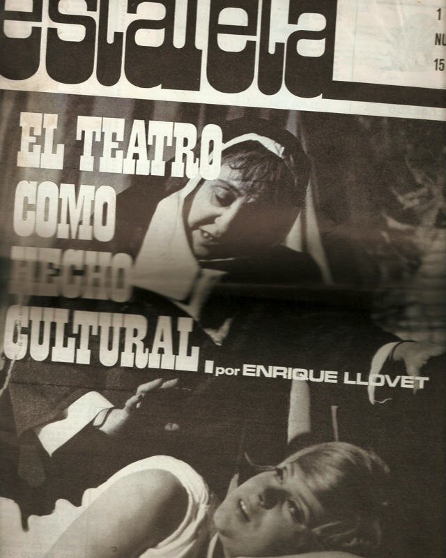 Portada del artículo de Enrique Llovet El teatro como hecho cultural