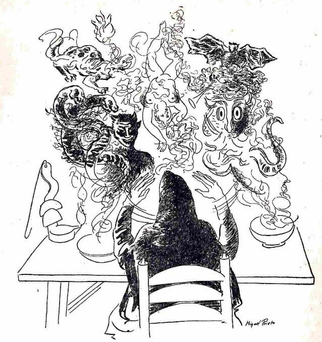 Ilustración del acto III de la edición de México (1947)