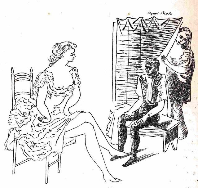Ilustración primera del acto XVII de la edición de México (1947)