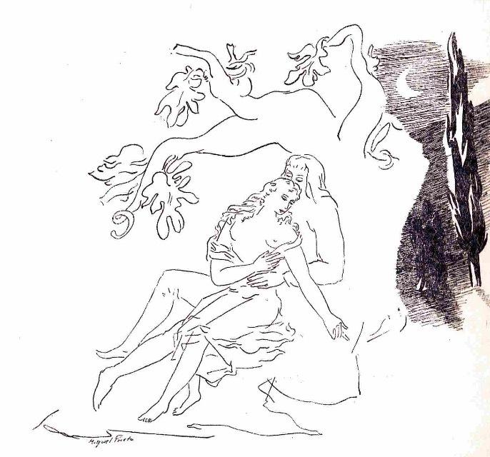 Ilustración primera del acto XIV de la edición de México (1947)