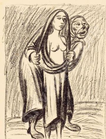 Das Opfer -Die Kupplerin (la víctima - la alcahueta), de Barlach (1919-24)