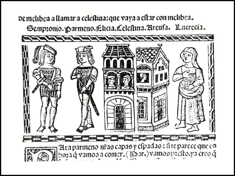 Grabado del acto IX de la edición de Valencia (1514)