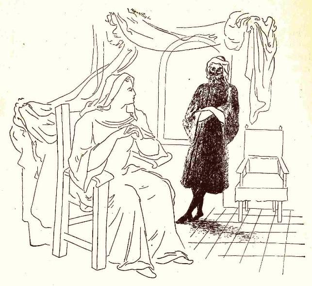 Ilustración primera del acto XVI de la edición de México (1947)