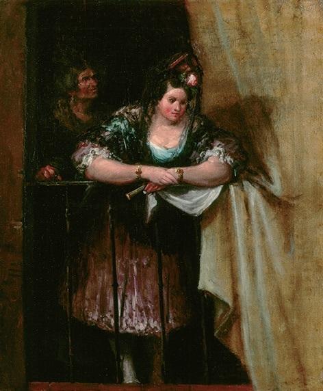 La maja del balcón, de Alenza (1848)