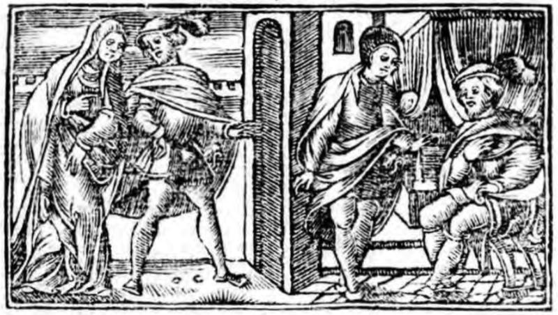 Ilustración del acto V de la edición de Zaragoza (1545)