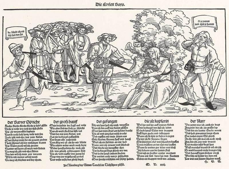 La sabiduria del buho, grabado de Stoer (1532)