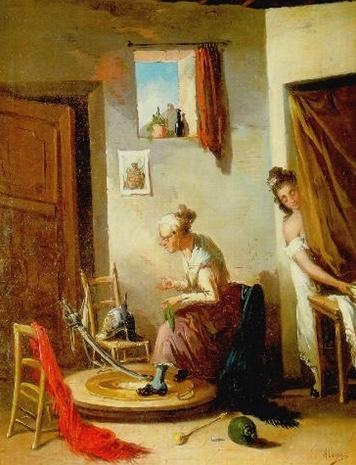 Joven y Celestina, de Alenza y Nieto (siglo XIX)