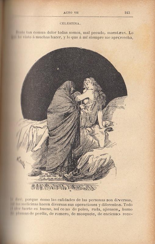 Ilustración primera del acto VII de la edición de Barcelona (1883)