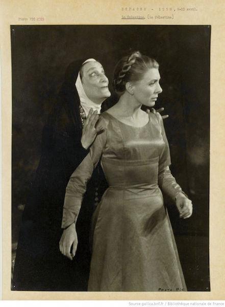 Representación de Theatre Sarah Bernhardt, Paris, 1958.