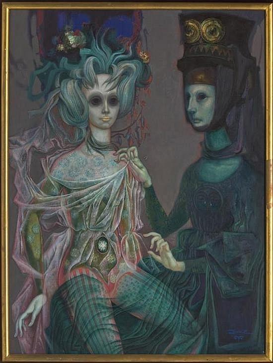 Celestina ataviando a Melibea post-mortem, de Quirós (1972)