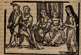 Ilustración del acto IV de la edición de Amberes (1616)