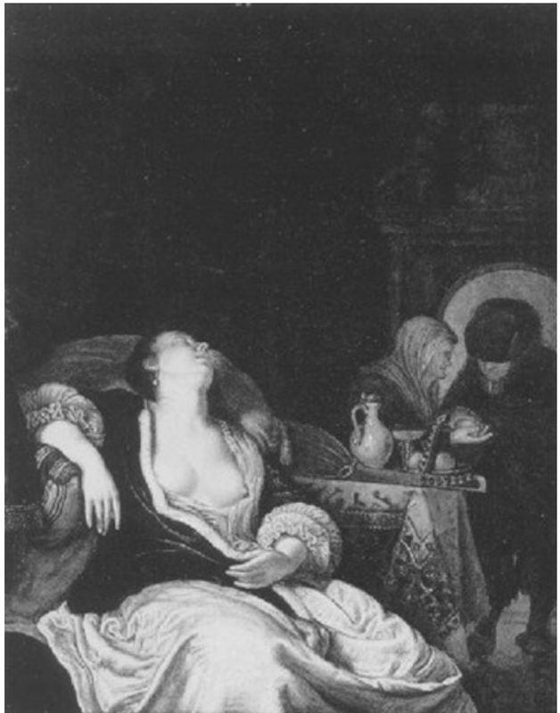 En la casamentera, de un discípulo de van Mieris (1680 c.)