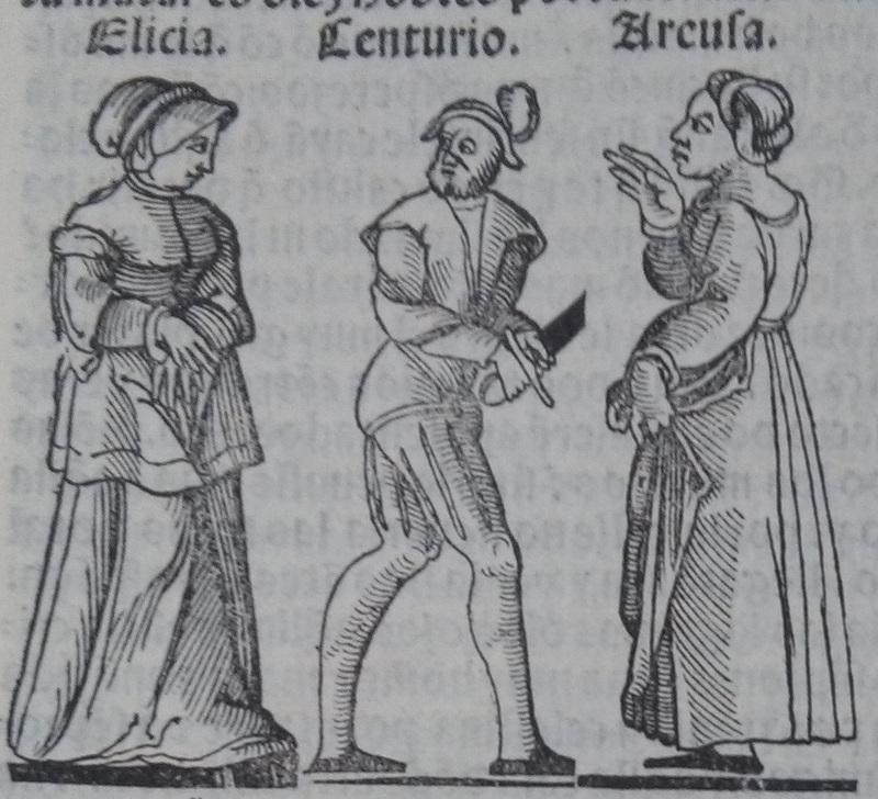 Ilustración del acto 15 de la edición de Lisboa (1540)