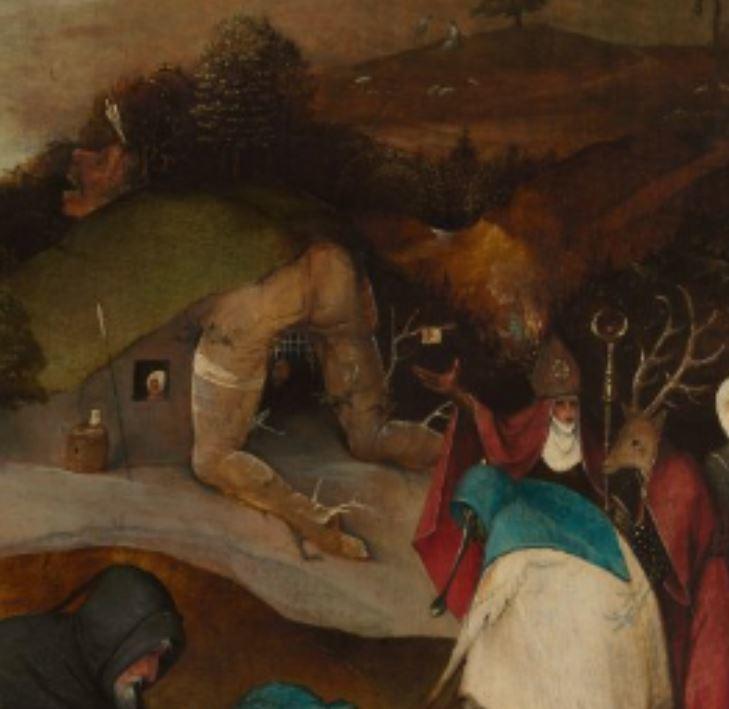 Detalle de Las tentaciones de San Antonio, del Bosco (1501)