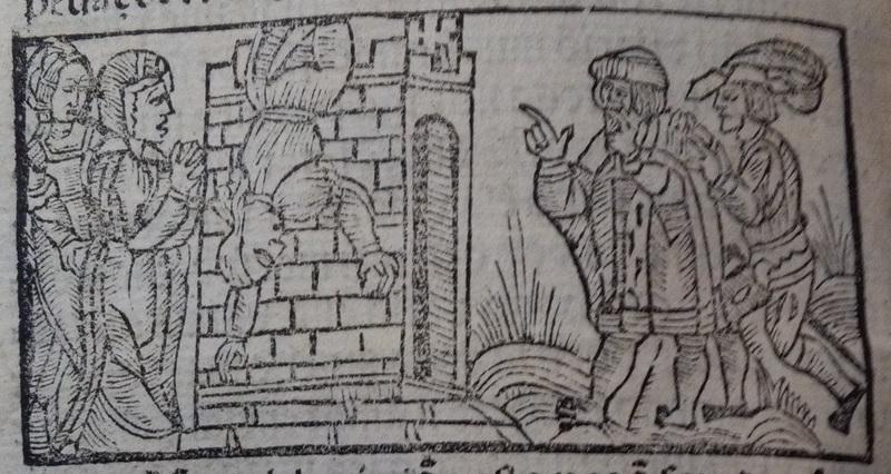 Ilustración del acto 22 de Medina del Campo, 1530
