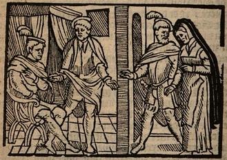 Ilustración del acto V de la edición de Amberes (1616)