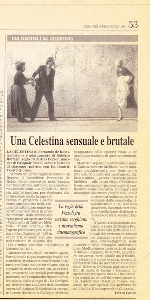 Representación del teatro Quirino, Roma, 1998