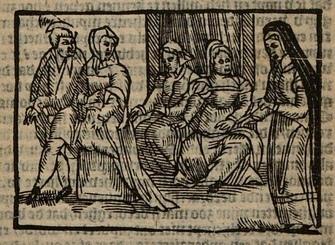 Ilustración del acto X de la edición de Amberes (1616)