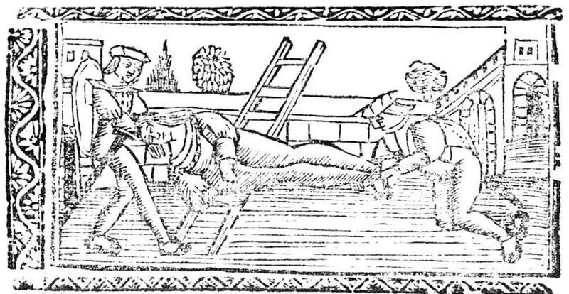 Ilustración segunda del acto XX de la edición de Valencia (1529)