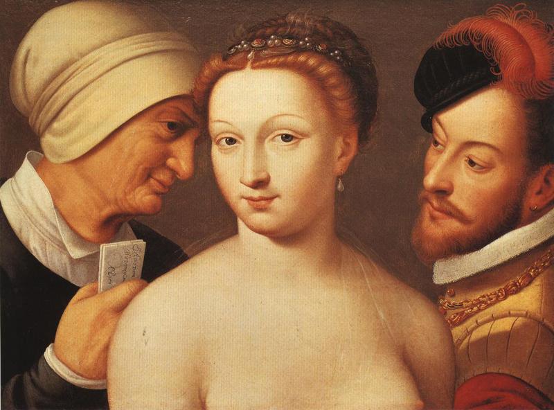 Le billet doux (La carta amorosa), de Clouet (c. 1570).