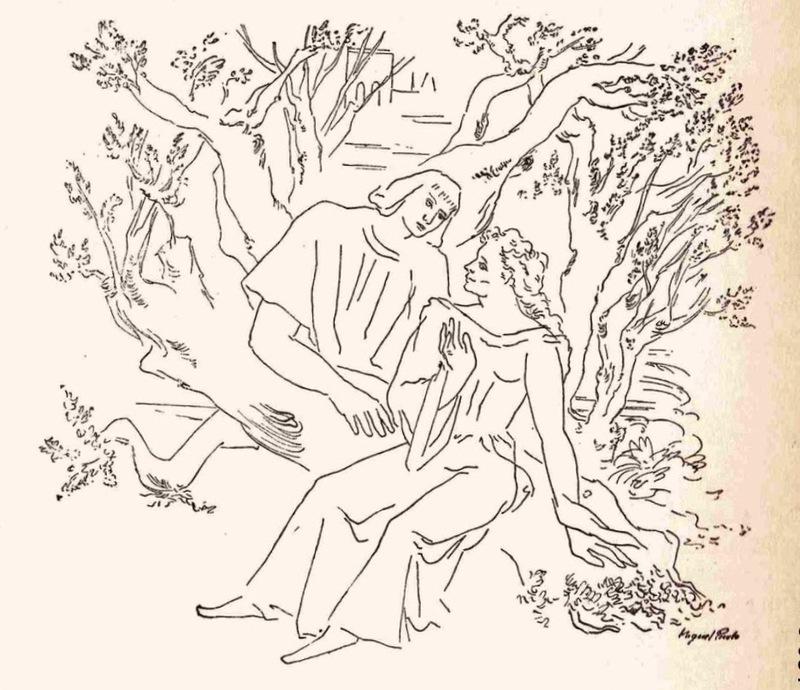 Ilustración primera del acto I de la edición de México (1947)