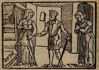 Ilustración segunda del acto XII de la edición de Amberes (1616)