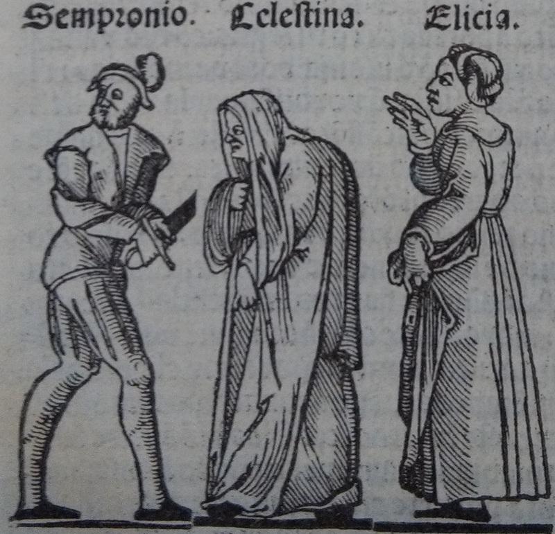 Ilustración del acto 3 de la edición de Lisboa (1540)
