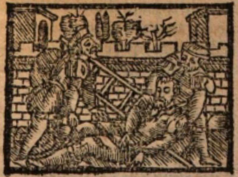Imagen del acto XIX de la edición de Salamanca (1590)