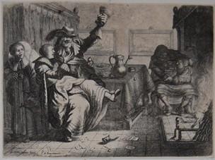 Dos parejas de enamorados en una taverna, de de Ram and van Vilet (1633 c.)