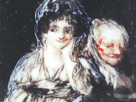 Celestina y maja, de Goya (1824)