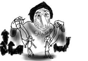 La Celestina, caricatura, de BibomaniaOtakulover (sic) (2010)