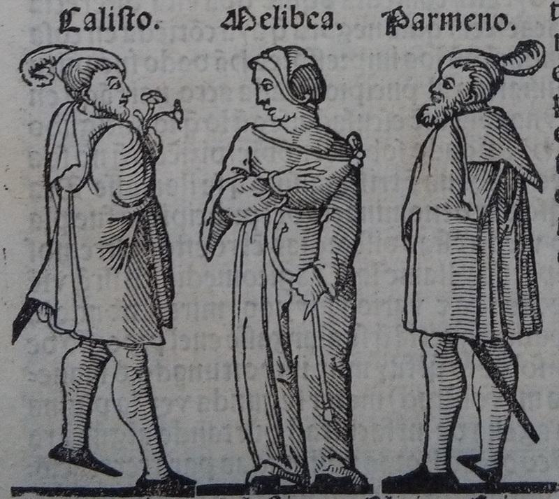 Ilustración del acto I de la edición de Lisboa (1540)