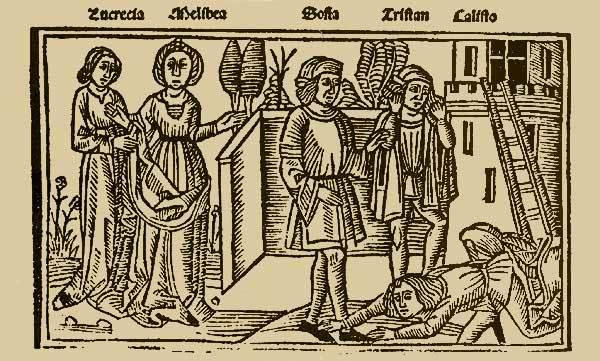 Grabado del acto XIV de la edición de Burgos (1499)