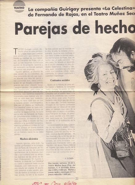 Representación de la Compañía Guirigai, Madrid, 1997.