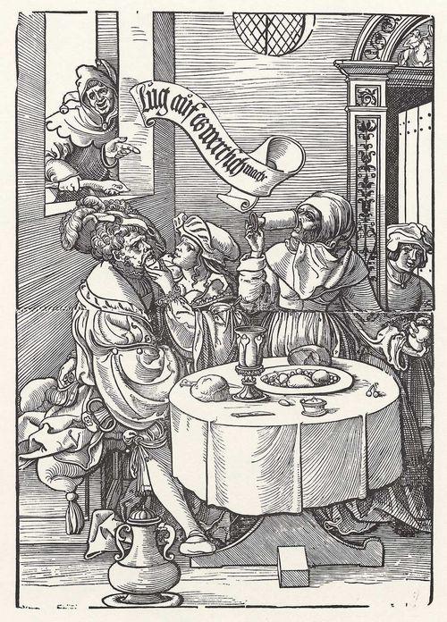 Die Kupplerin (la alcahueta), de Vogtherr (1537)