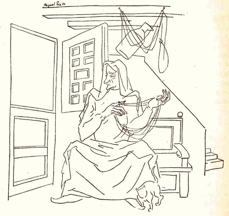 Ilustración del acto II de la edición de México (1947)