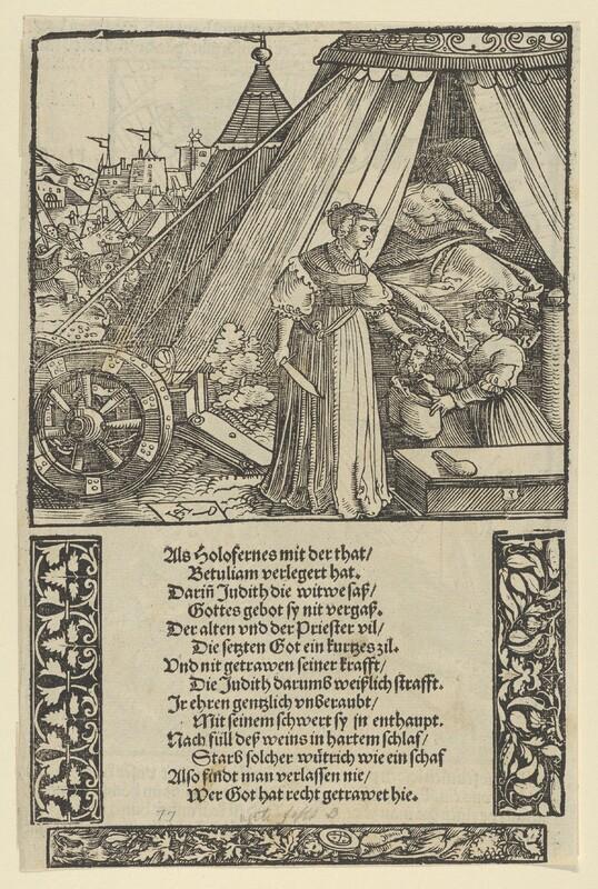 Judith con la cabeza de Holofernes, de Schäufelein (1533)