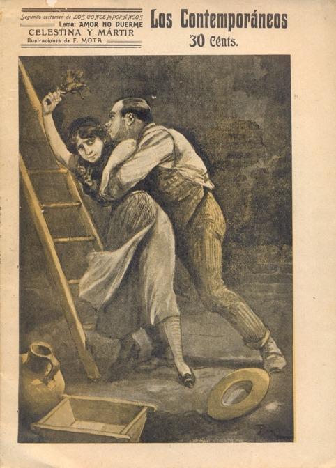 Celestina y mártir, ilustración de portada, de Mota (1912)