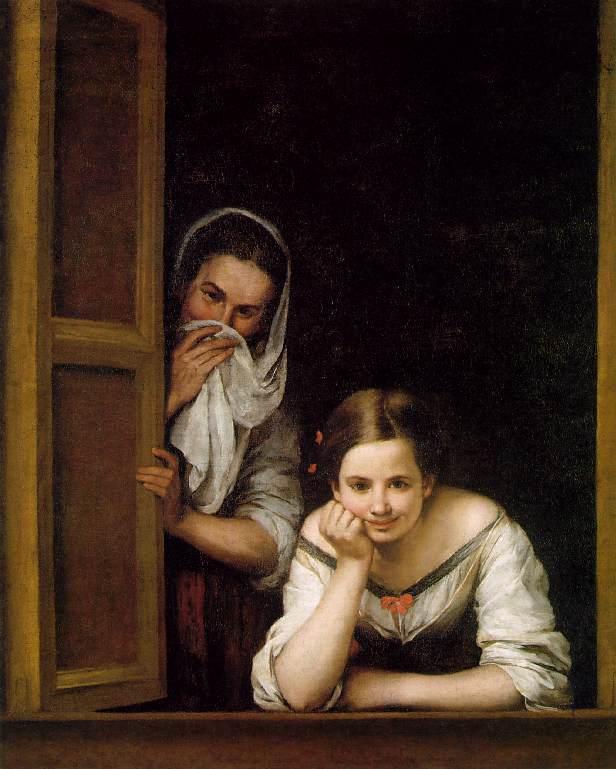 Mujeres en la ventana, de Murillo (1675)