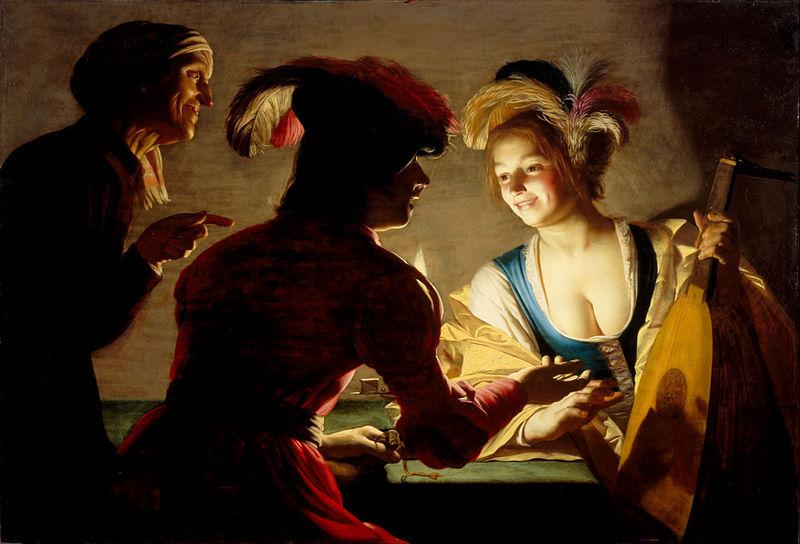 De koppelaarster (la alcahueta), de Honthorst (1625)