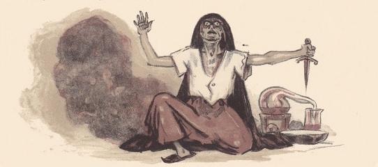 Ilustración tercera del acto III de la edición de París (1949)