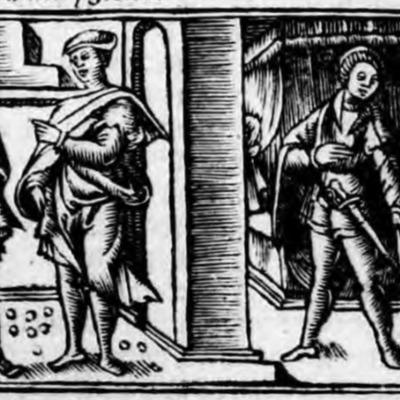 Ilustración del acto VIII de la edición de Zaragoza (1545)