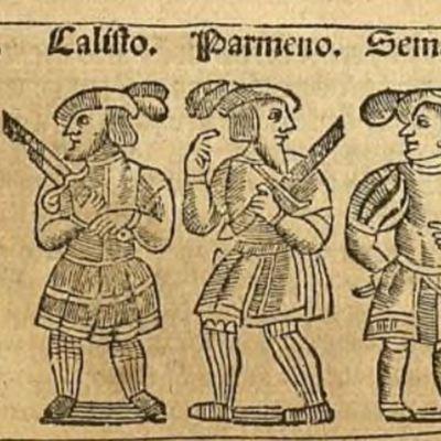Ilustración del acto XI de la edición de Zaragoza, 1545